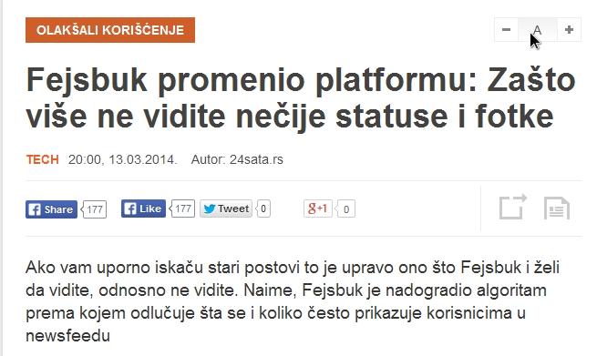 2014-03-14 14_18_25-Fejsbuk promenio platformu_ Zašto više ne vidite nečije statuse i fotke - Kurir