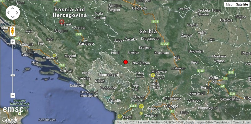 2014-07-06 14-02-33-Earthquake - Magnitude 2.1 - SERBIA - 2014 July 05, 23_09_09 UTC