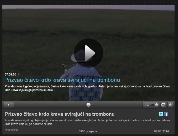 2014-08-08 14-27-39-Prizvao čitavo krdo krava svirajući na trombonu - Jutarnji TV