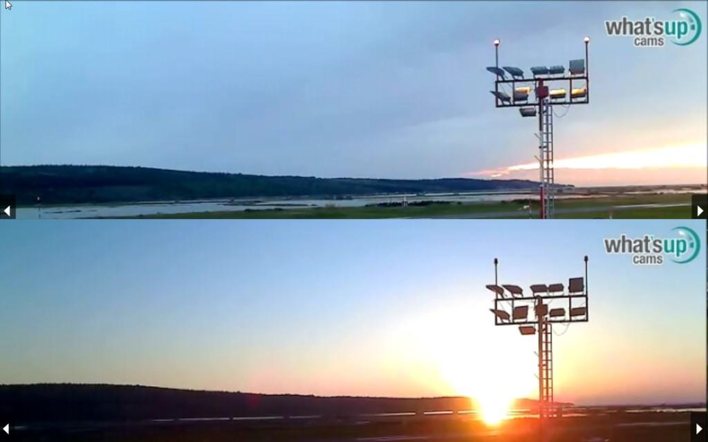 usporedba zalaska sunca